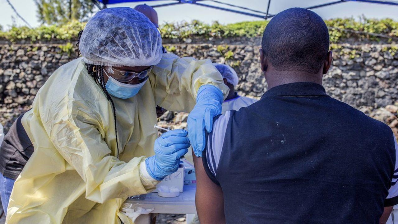 Vaccination contre le virus Ebola à Goma, au Congo, juillet 2019.