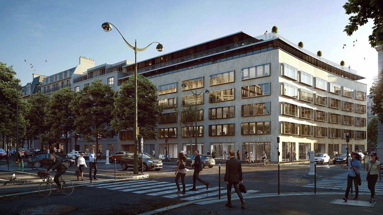 Le futur siège de Goldman Sachs avenue Marceau à Paris, à deux pas de l'Arc de Triomphe.