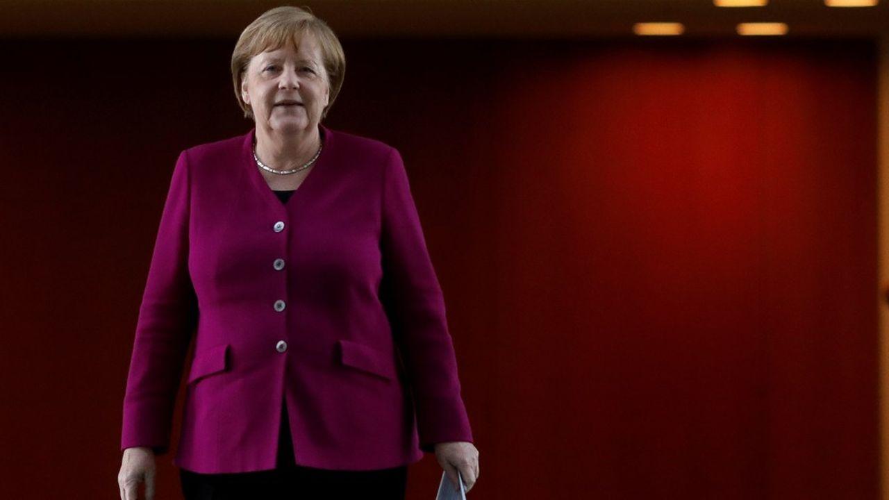 Face aux intérêts divergents des membres de sa coalition, la chancelière allemande aura fort à faire pour garantir que le plan de relance se concentre sur la relance de l'innovation et le verdissement de l'économie. Markus Schreiber/Pool via REUTERS