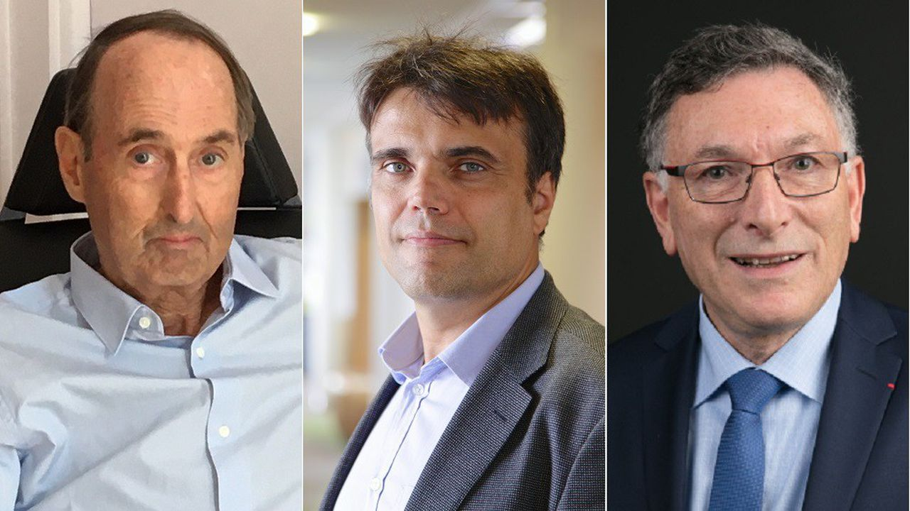 Hervé Allard (Hauts-de-France, groupe Trenois), Pierre-Olivier Brial (Ile-de-France, Manutan) et Georges Lingenheld (Grand Est, groupe Lingenheld), présidents du club ETI de leur région.