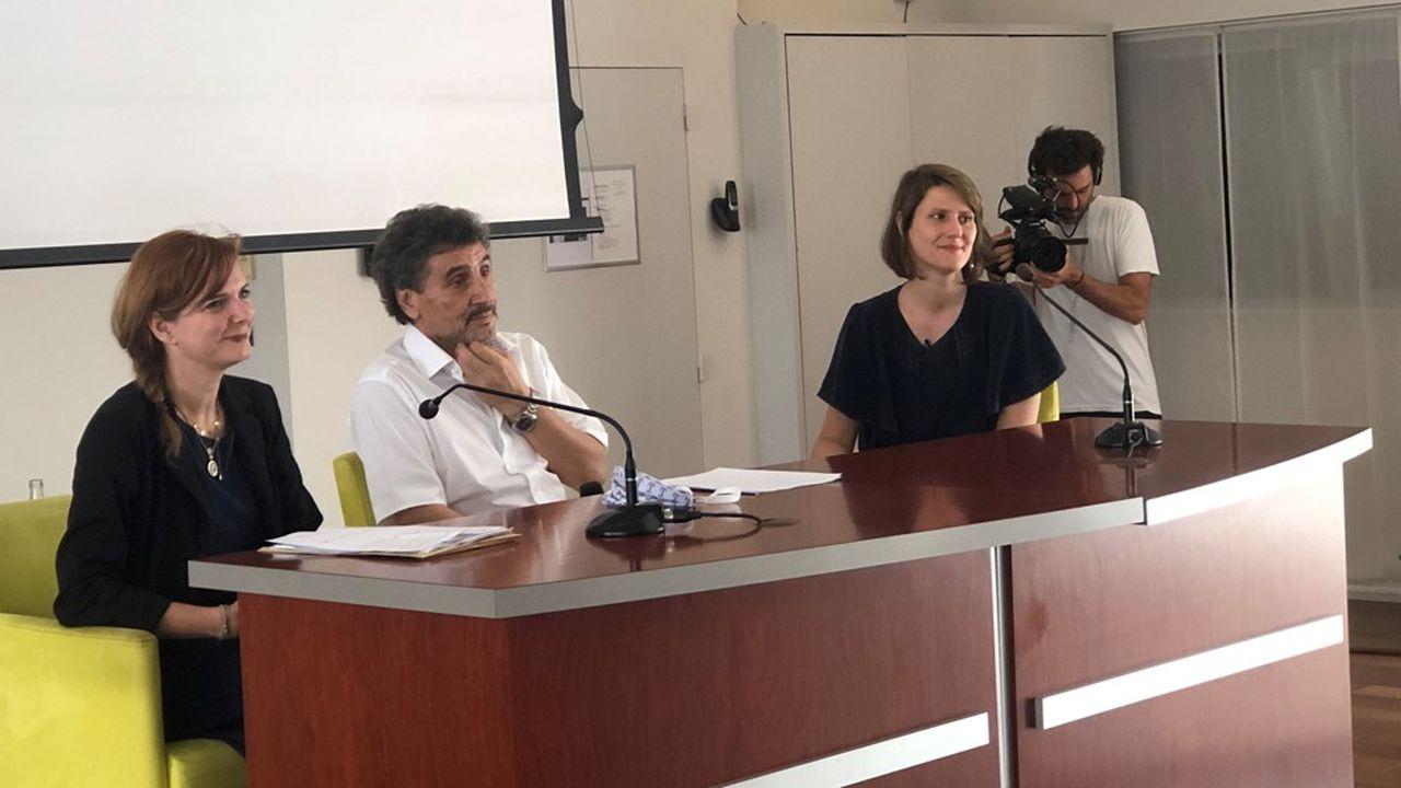 Clothilde Ollier (dissidente EELV), Mohed Altrad et Alenka Doulain (collectif NousSommes, LFI).