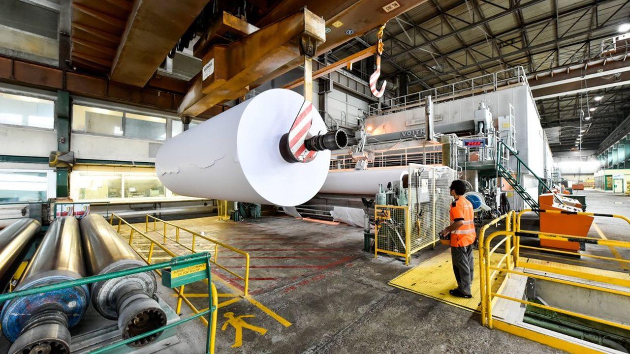 Le taux d'activité de l'industrie papetière française est demeuré élevé à 90% pendant la crise sanitaire, avec peu de chômage partiel.
