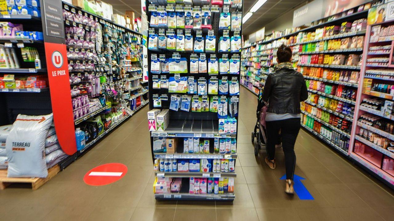 Dans un supermarché à Vallauris (Alpes-Maritimes).
