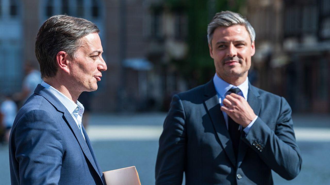 Arrivé en deuxième position au premier tour des municipales, Alain Fontanel (à gauche) a fusionné sa liste avec celle du candidat LR, Jean-Philippe Vetter (à droite).