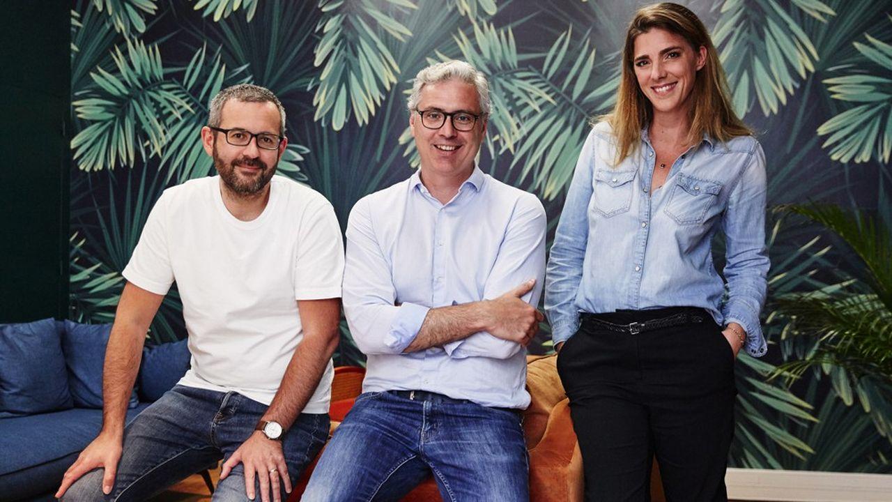 Benjamin Guerville, Philippe Cantet et Laure Favre ont cofondé la marque de lessive Spring.