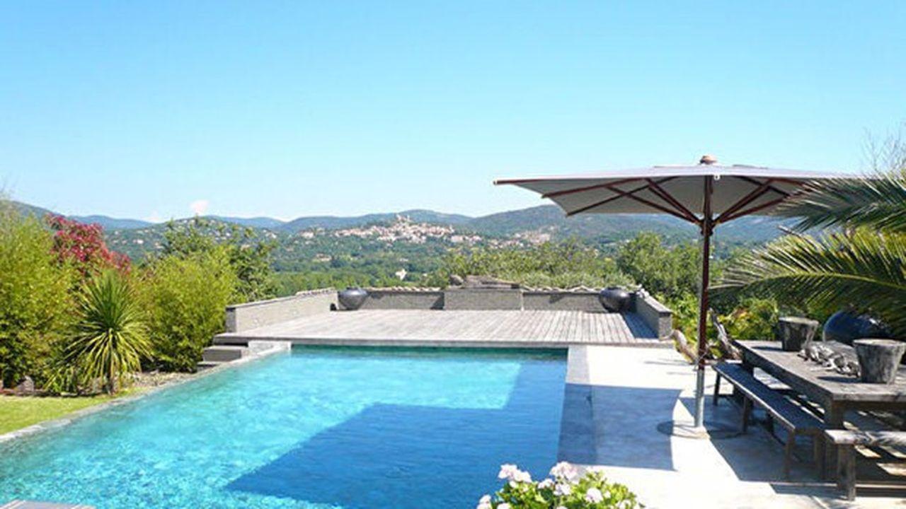 Une villa avec piscine dans le golfe de Saint-Tropez