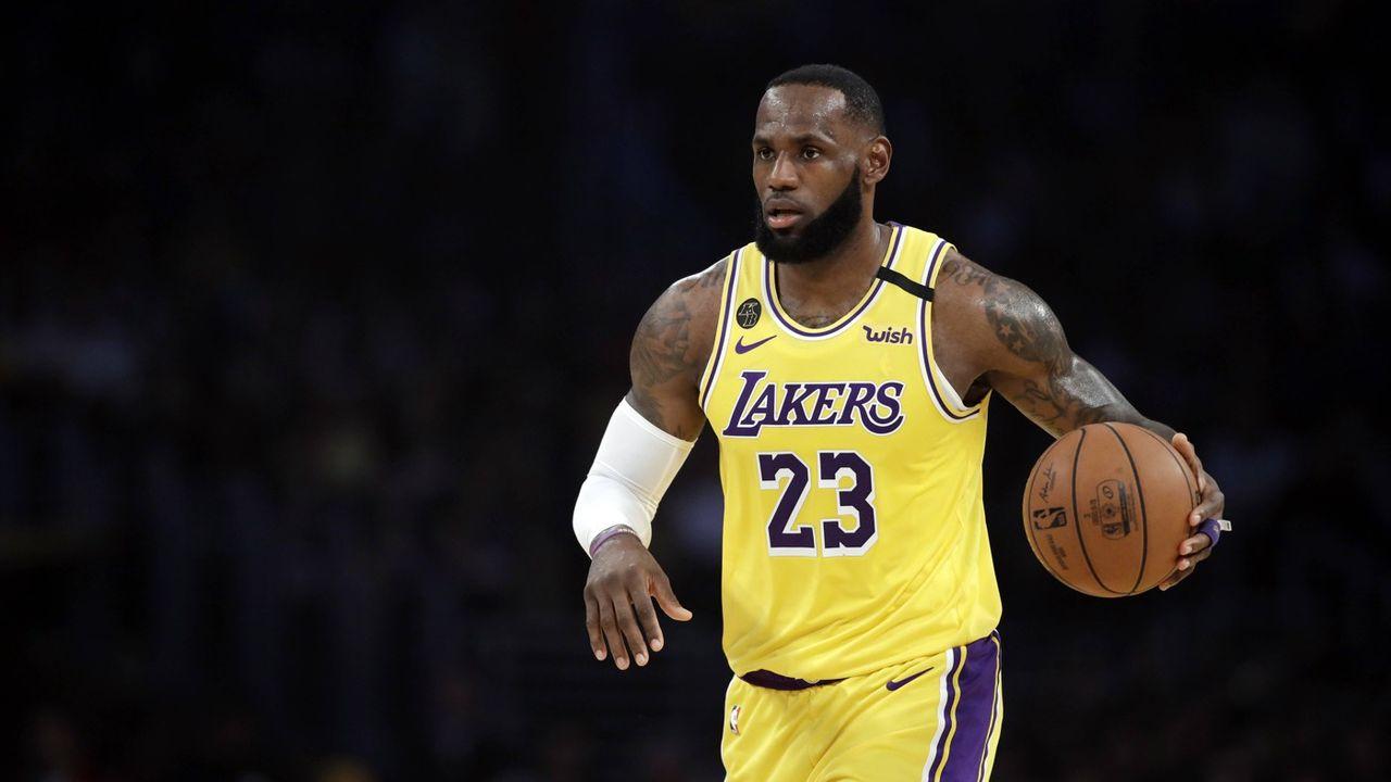 Le joueur des Lakers James LeBron.