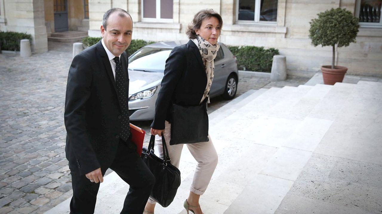 Le secrétaire général de la CFDT, Laurent Berger, et Marylise Leon, secrétaire générale adjointe.