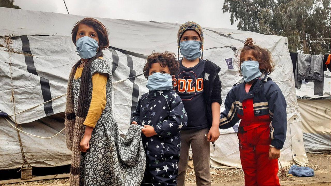 Les camps de réfugiés sont confinés depuis le 21mars dans les îles de la mer Egée, ici à Lesbos, mais aussi dans les camps installés sur le continent. Quasiment aucun cas n'a été déclaré sur ces sites.