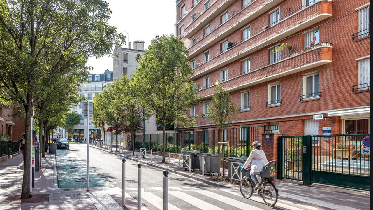 Scene de rue, cycliste *** Local Caption *** Immobilier