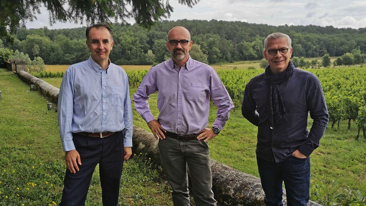 De gauche à droite: Benoit Lemaire, David Gaudout et Stéphane Rey, les trois cofondateurs de la société Activ'Inside.