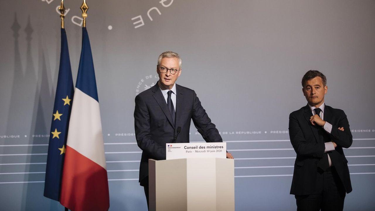 Le troisième budget rectificatif depuis le début de la crise sanitaire a été présenté en Conseil des ministres (ci-dessus Bruno Le Maire et Gérald Darmanin).