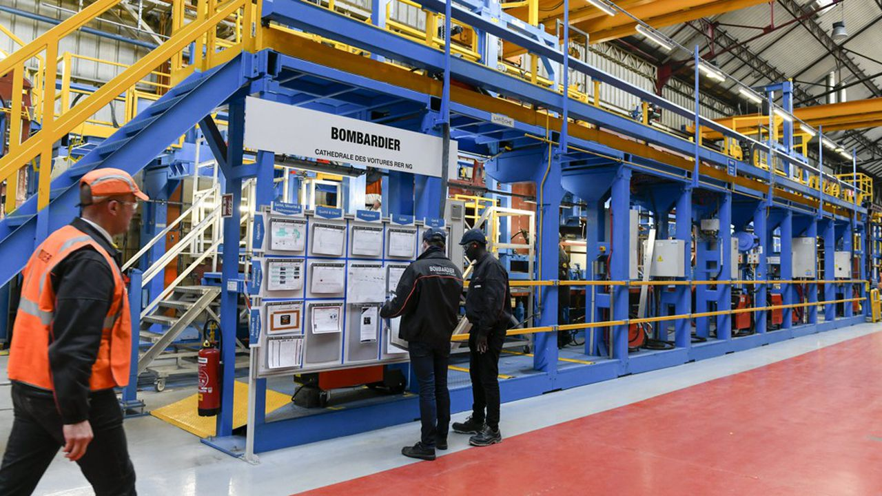 Suite à une longue période de chômage partiel, les chaînes françaises de Bombardier ont accumulé beaucoup plus de retard que celles d'Alstom.