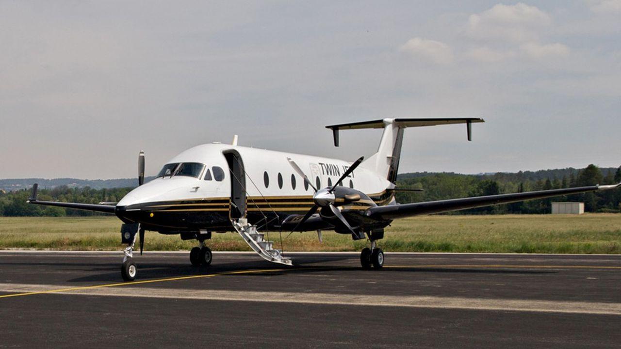 Avec ses 13 Beechcraft 1900 de 19 places, Twin Jet relie habituellement 14 aéroports en France et en Europe.