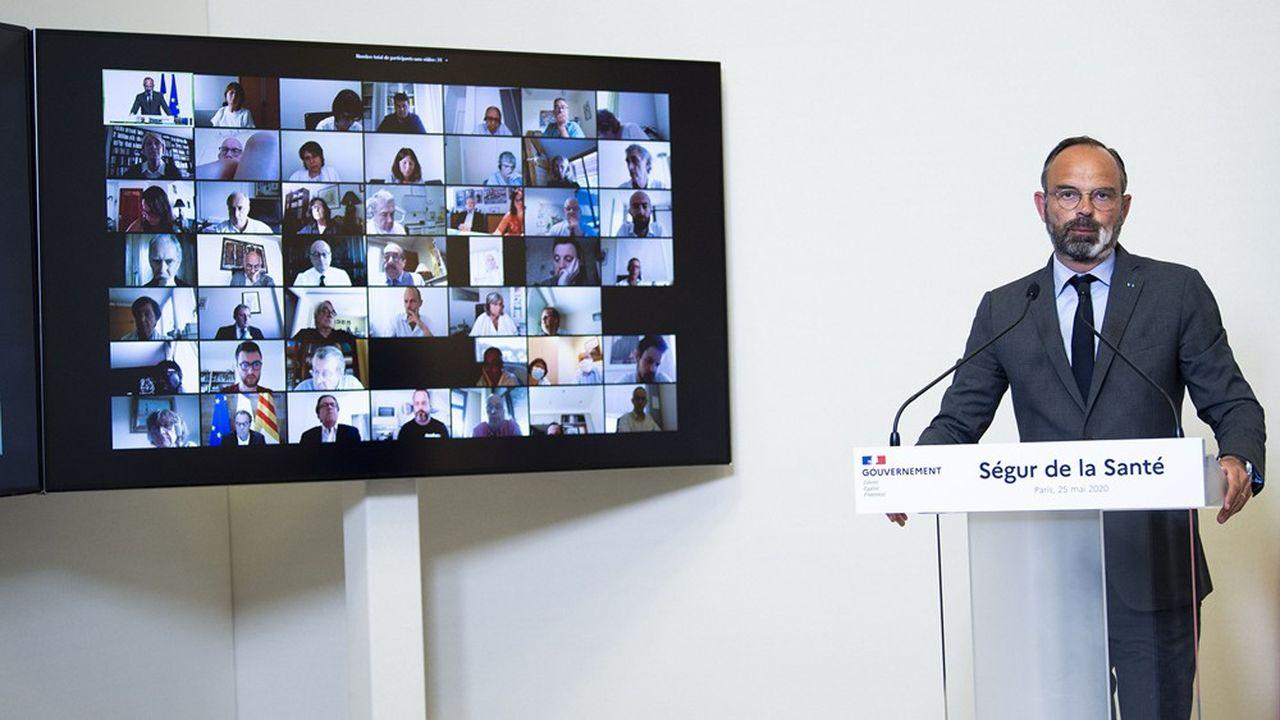 Le Premier ministre Edouard Philippe a donné le coup d'envoi du Ségur de la santé le 25mai.