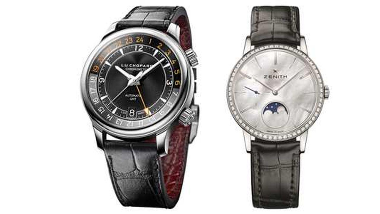 Heures Actuelles : montres en acier sur bracelet cuir