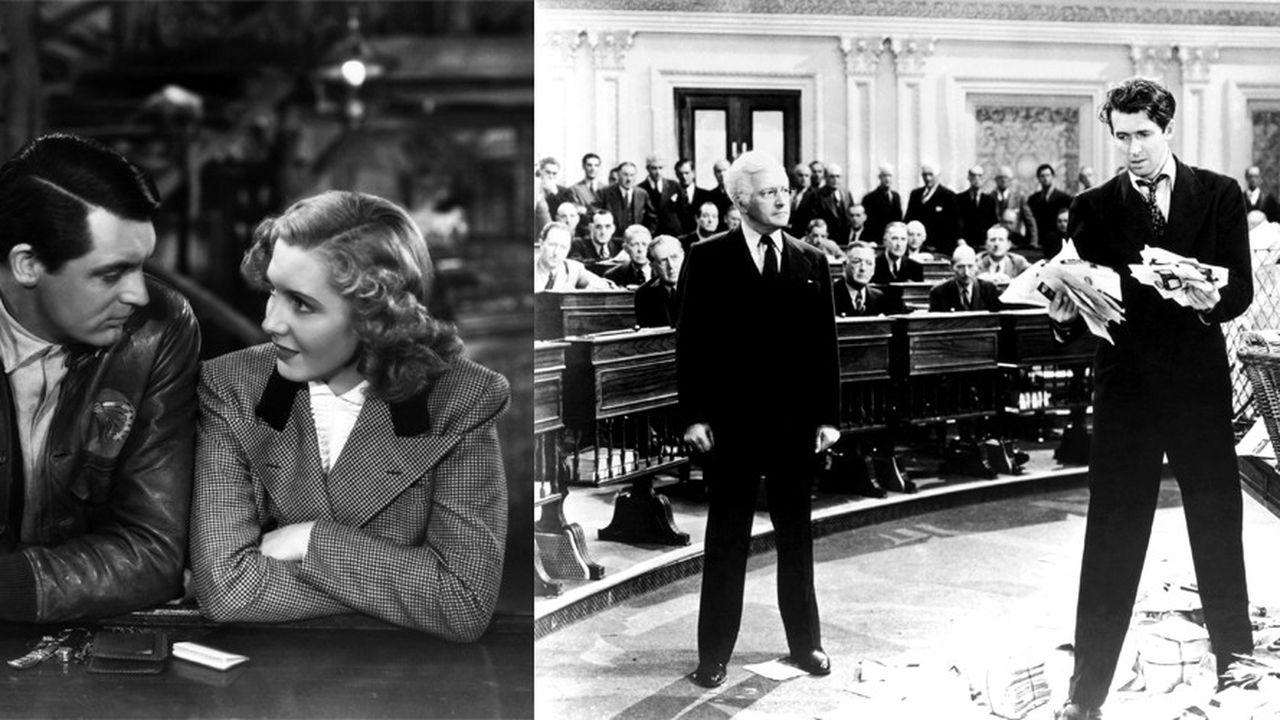"""""""Seuls les anges ont des ailes"""", de Howard Hawks (USA) et """"Mr Smith va au Sénat"""", de Frank Capra (USA), Grand prix du jury ex aequo désignés par le jury présidé par Bertrand Tavernier"""