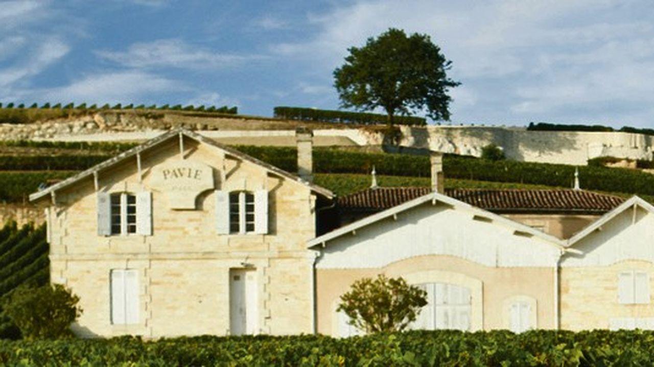 Château Pavie à Saint Emilion dans la région viticole de Bordeaux, France