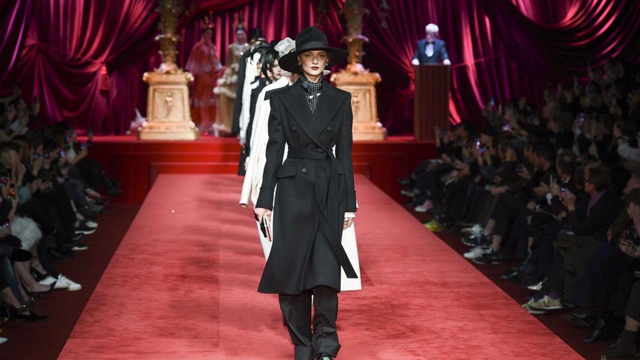 Fashion Week Automne-Hiver 2019 : eleganza chez Dolce & Gabbana