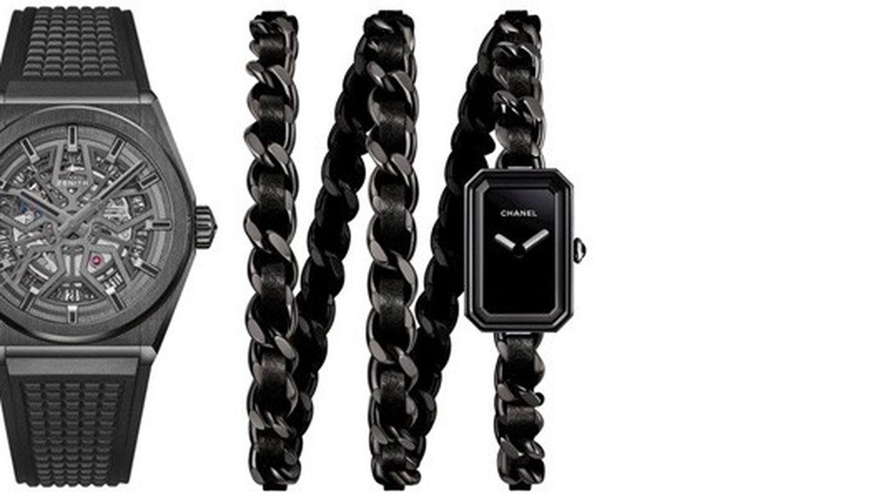 Heures Actuelles : montres noires