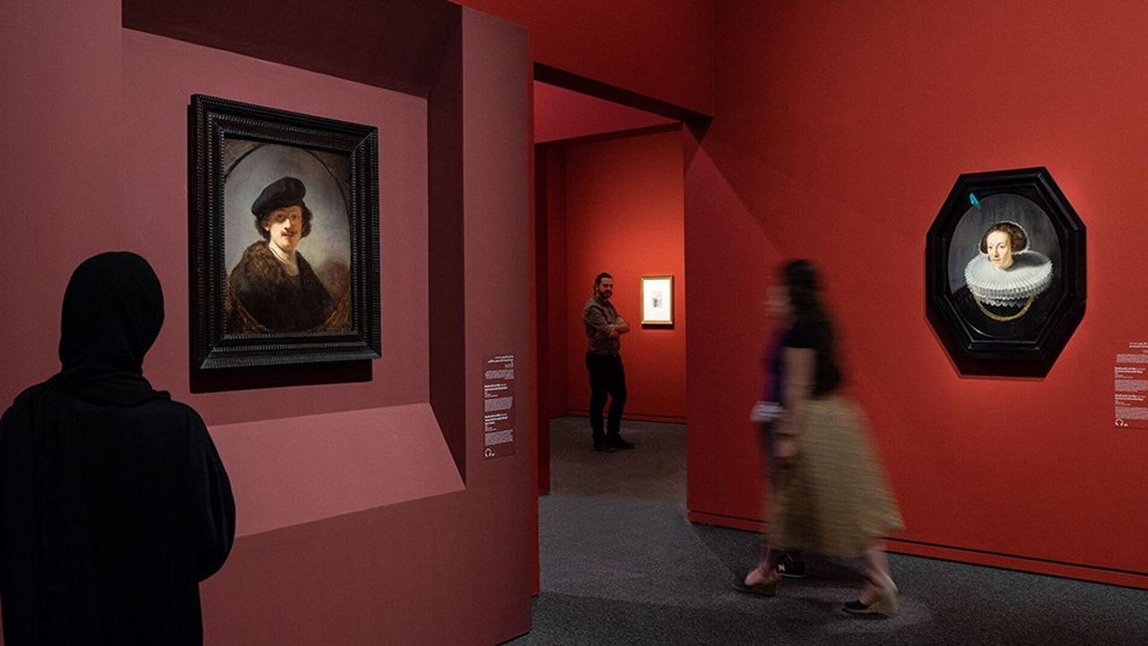 Les grands noms de l'histoire de l'art sont exposés au Louvre Abu Dhabi.