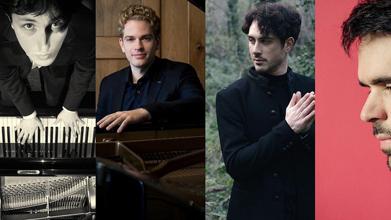 La série Chopin convoque Ismaël Margain, Joseph Moog, Leonardo Pierdomenico et Tanguy de Williencourt.