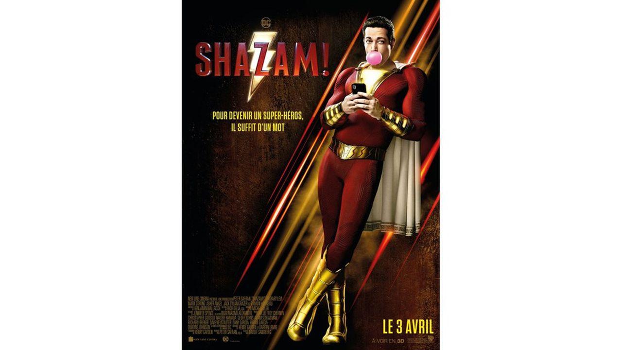 Zachary Levi, 1,91 mètre sous la toise porte parfaitement la combinaison de Shazam.