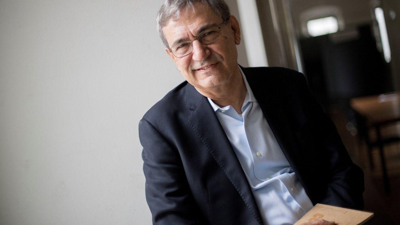 L'écrivain prix Nobel de littérature Orhan Pamukà Barcelone en 2018, pour la présentation de son dernier roman.