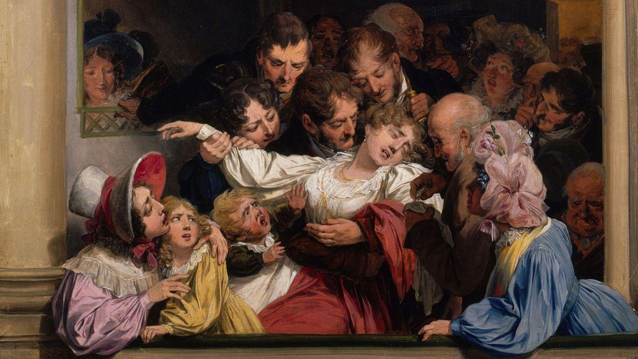 «L'Effet du mélodrame» de Louis-Leopold Boilly, vers 1830, huile sur toile.