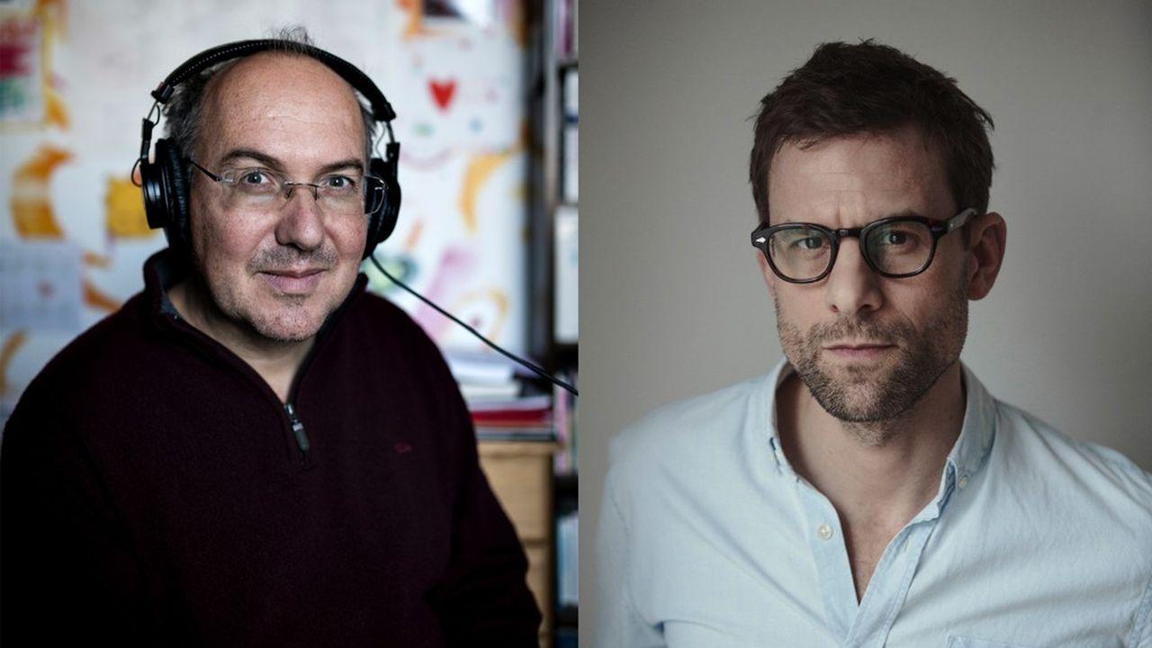 Damasio (gauche) et Nicolas Mathieu (droite)