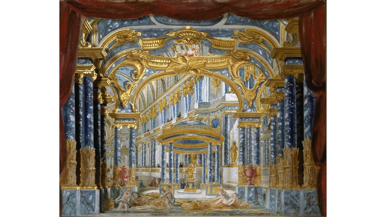 Piero Bonifazio Algieri, «Palais de Cérès», maquette de décor en volume pour l'acteI de «Proserpine» de Lully