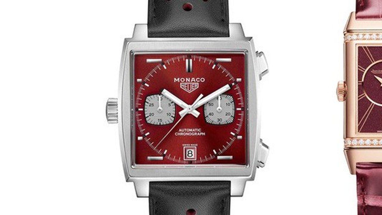 Heures Actuelles : montres rouges