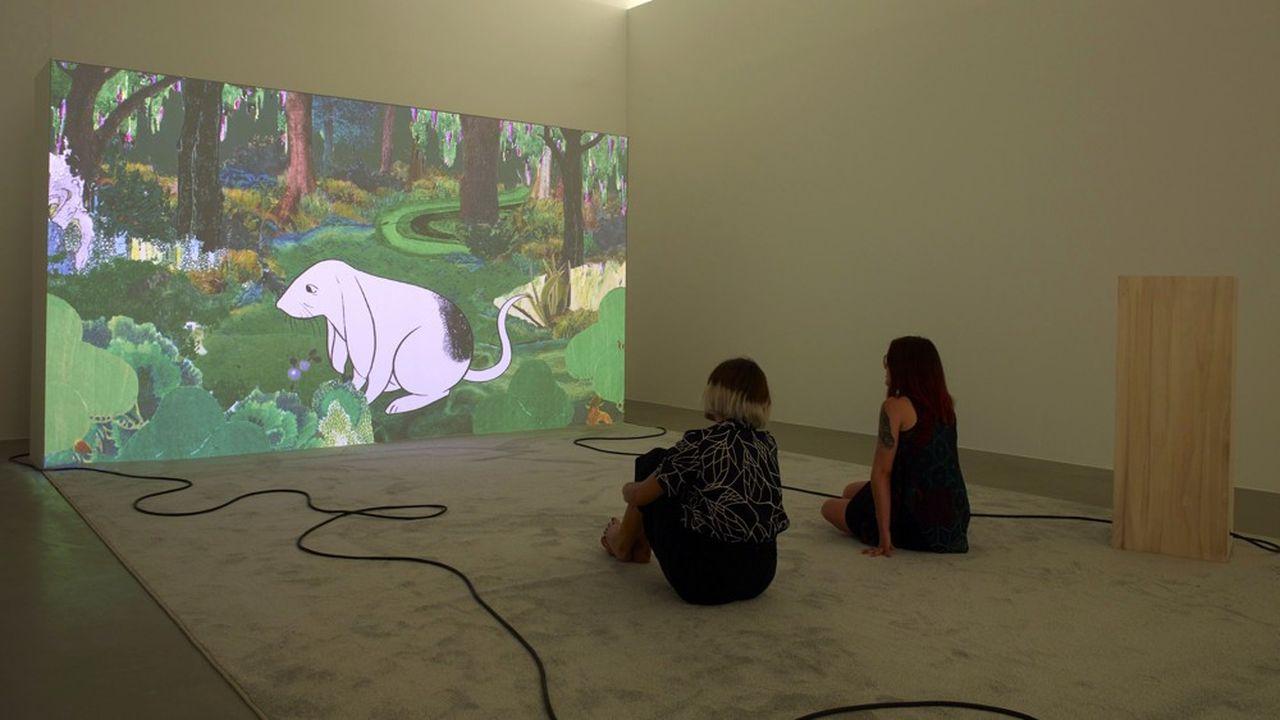 «Lake Valley» (vidéo HD, 8'25', 2016), de Rachel Rose, présenté au MoCo lors de l'exposition «Distance intime. Chefs-d'oeuvre de la collection Ishikawa».