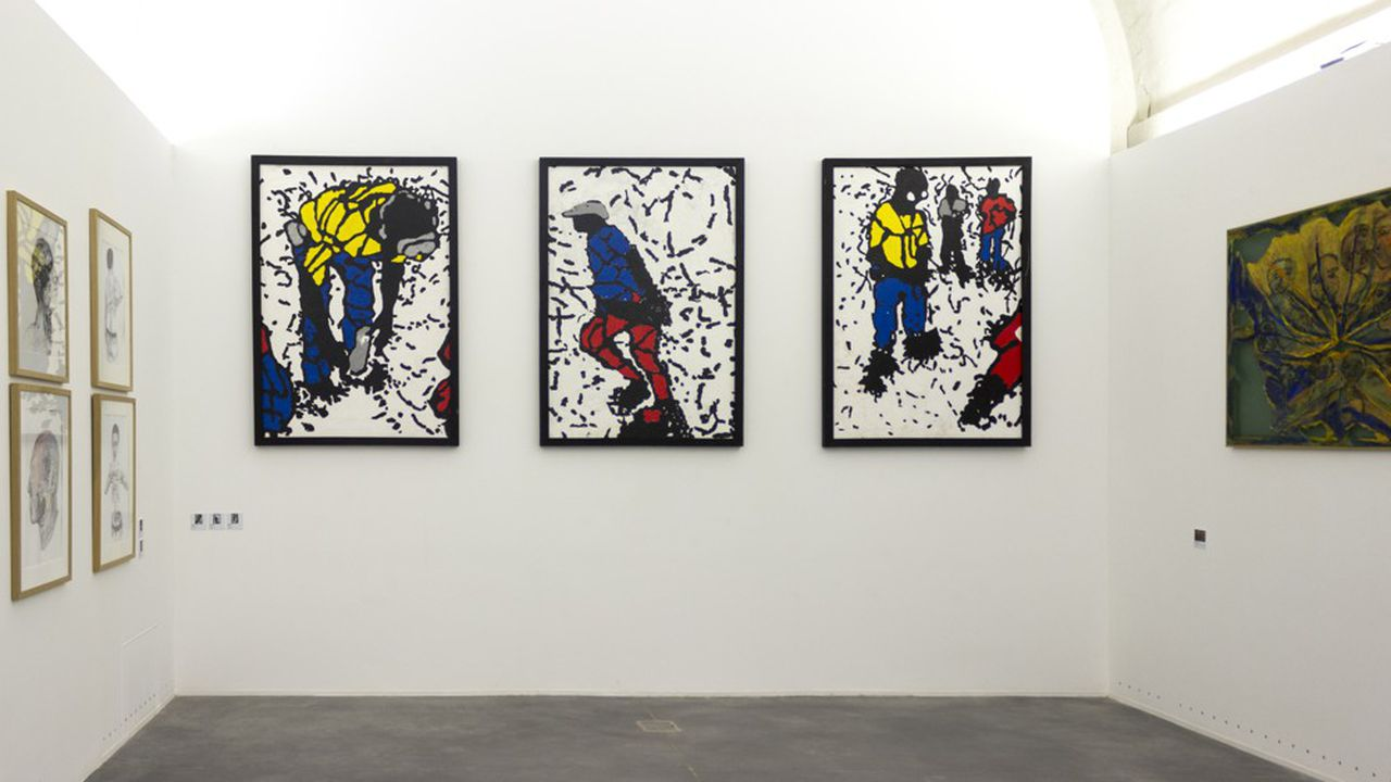 Les«ombres » de Gérard Quenum font partie de l'exposition « Les Impromptus »