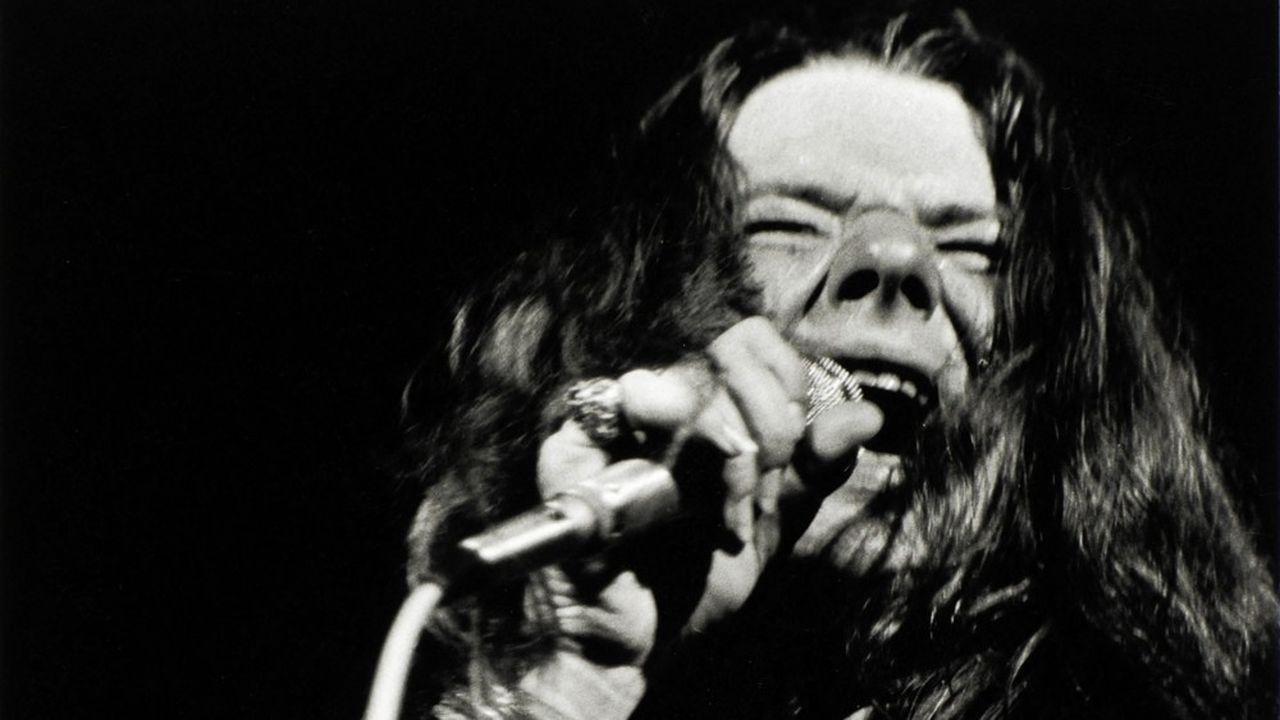 Janis Joplin (1943-1970), lors du festival de Woodstock, 16août 1969.