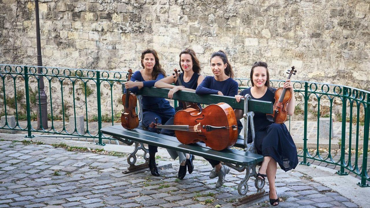 Sarah Chenaf, Charlotte Maclet, Juliette Salmona etLeslie Boulin Raulet forment le Quatuor Zaïde, qui dirige la 44e édition du festival de Luberon.