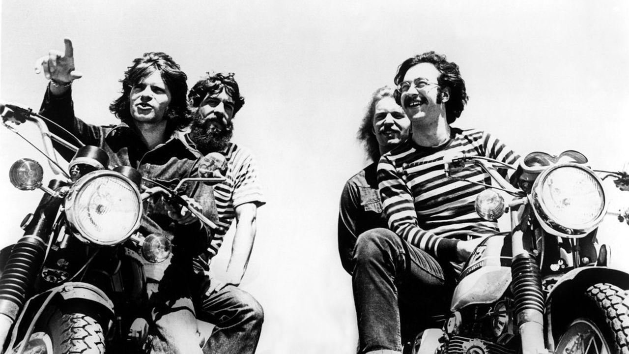 Le groupe pop Creedence Clearwater Revival avec John Fogerty, Doug Clifford, Tom Fogerty et Stu Cook, en 1970