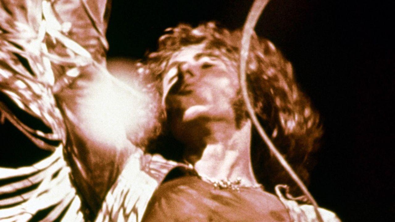 Roger Daltrey, le chanteur de The Who, à Woodstock. Collection Christophel / RnB © Wadleigh Maurice