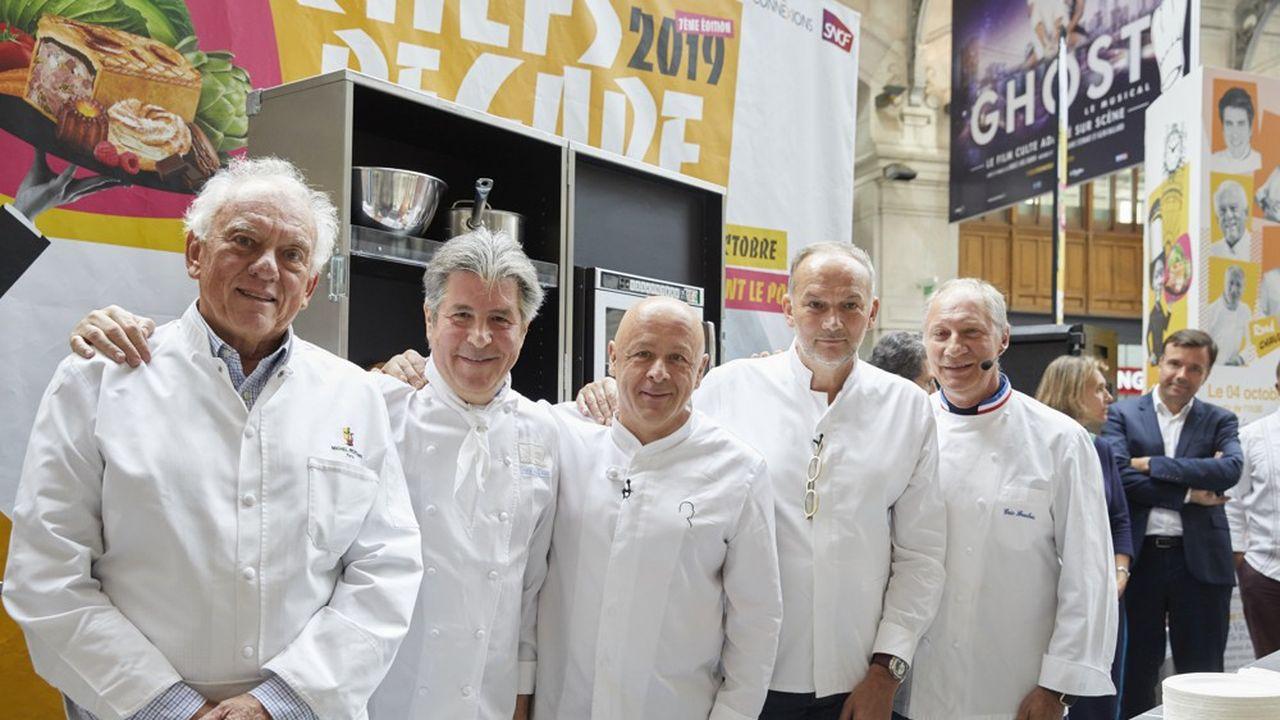 De gauche à droite: Michel Rostang, Michel Roth, Thierry Marx, Christian Le Squer, Eric Fréchon