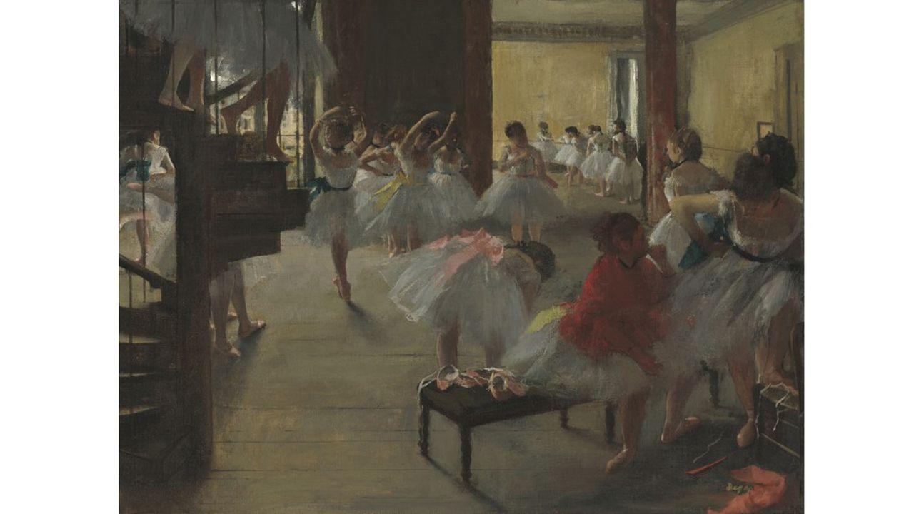 « La Classe de danse » (1873), peinure à l'huile, Corcoran Collection (William A. Clark Collection).