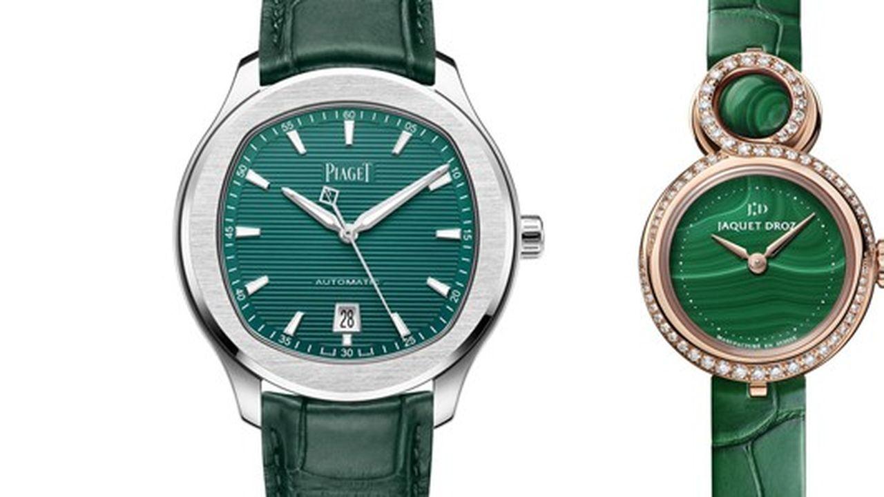 Heures Actuelles : montres vertes