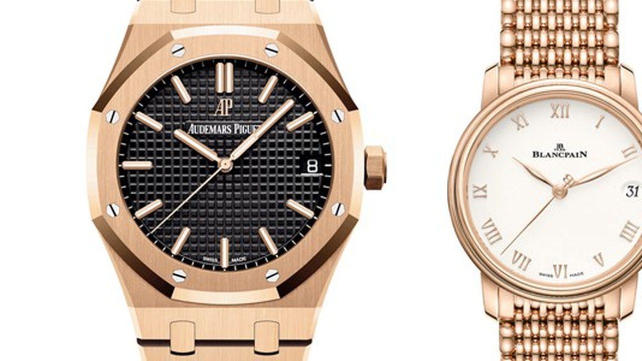 Heures Actuelles : montres en or rose