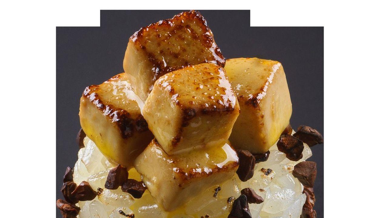 Création Sushi Shop grué cacao et foie gras