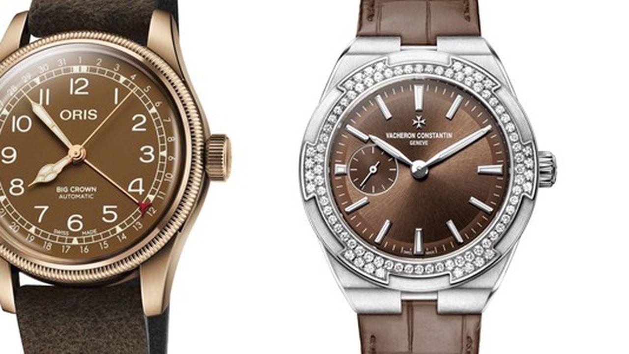 Heures Actuelles : montres marron