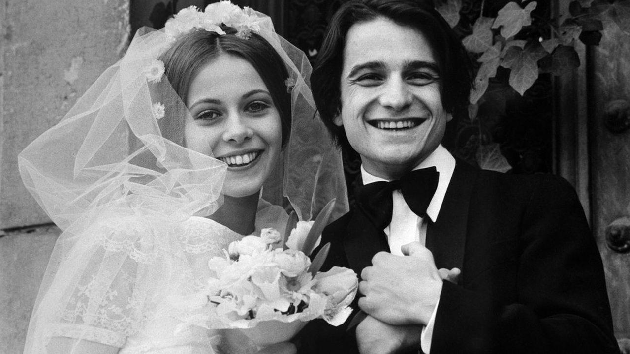 Claude Jade et Jean-Pierre Léaud sur le tournage de «Domicile conjugal», en octobre 1970.