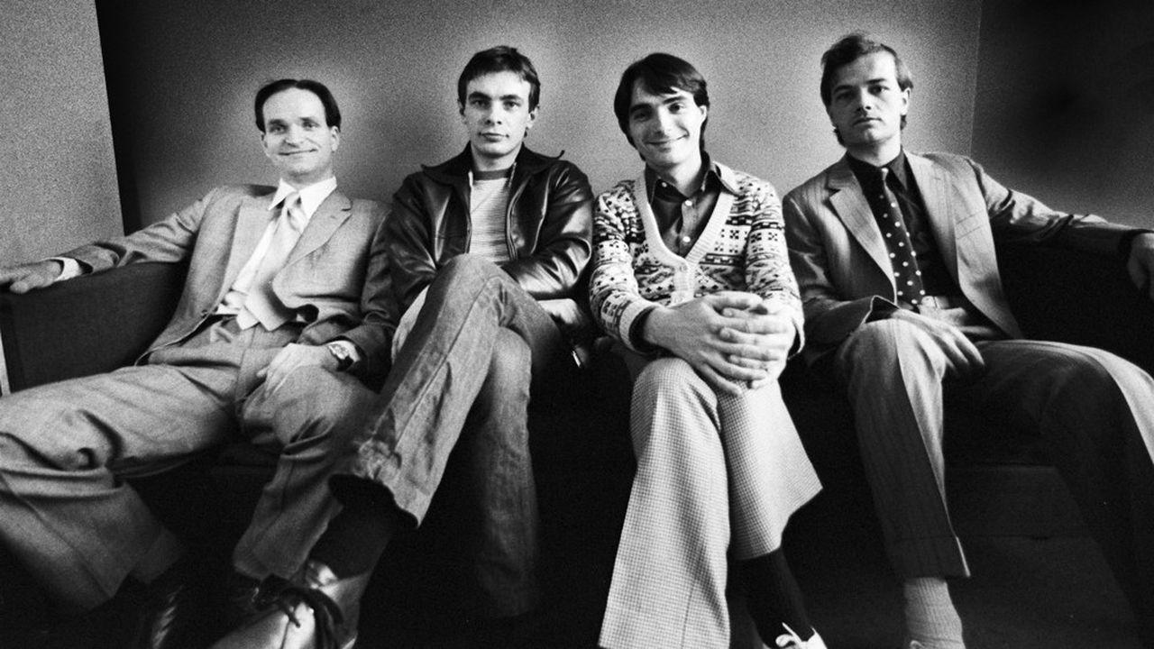 Kraftwerk à Rotterdam en mars1976: Florian Schneider (à gauche), Karl Bartos, Wolfgang Flur, Ralf Hutter