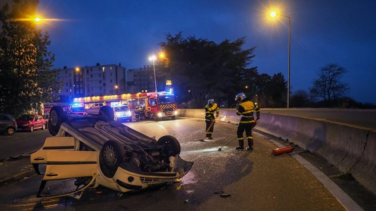 Un accident de la route à Tour, en décembre2018.