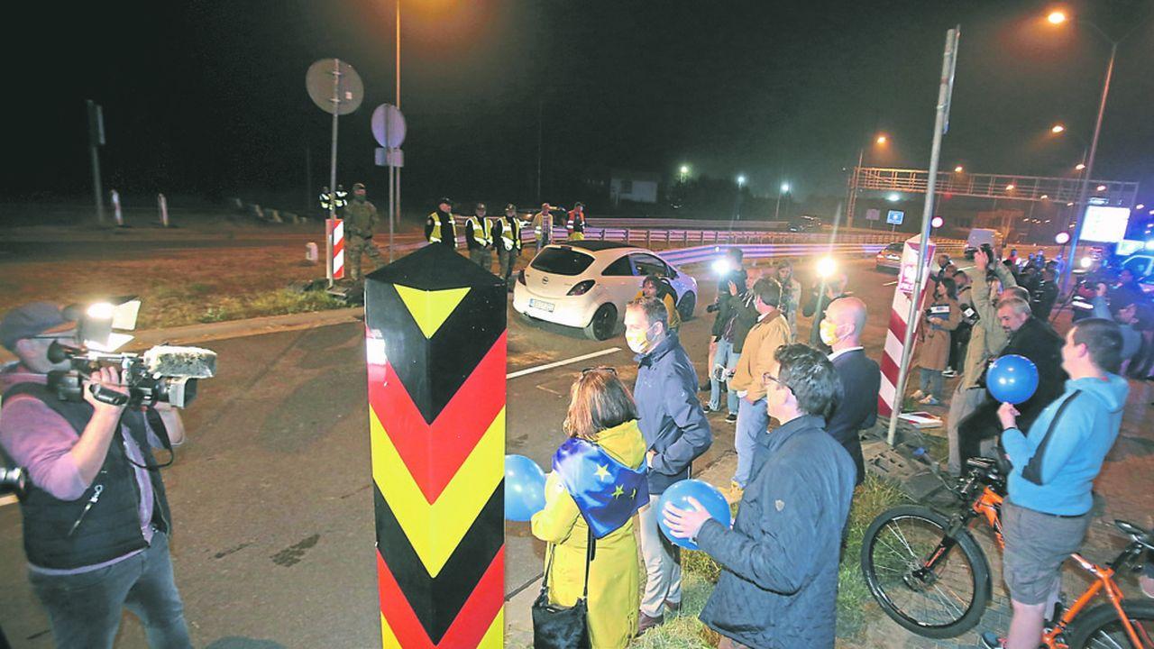 Les contrôles ont été levés dès samedi à la frontière entre l'Allemagne et la Pologne.