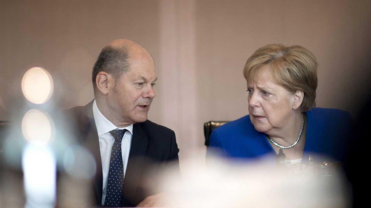 Le ministre des Finances Olaf Scholz et la chancelière allemande forment un tandem solide depuis le début de la crise sanitaire.