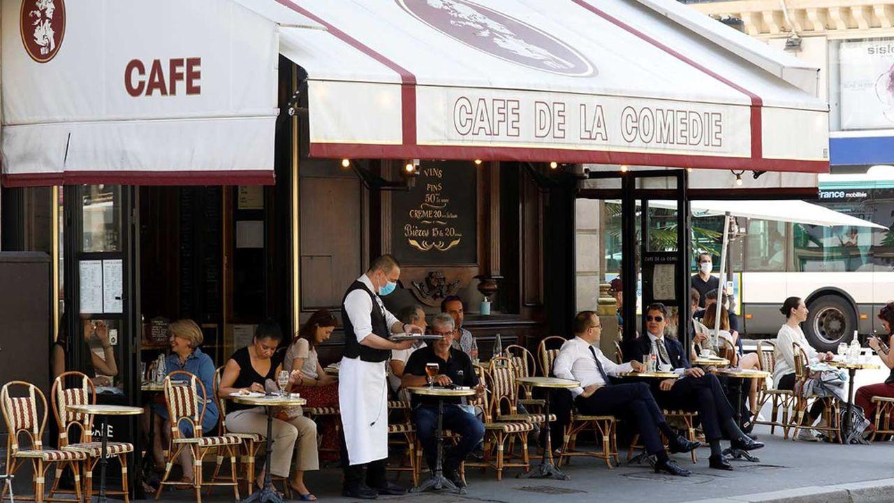 Les restaurateurs franciliens étaient autorisés depuis le 2juin à accueillir des clients, mais seulement en terrasse.